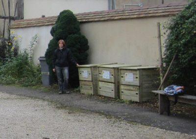 Compostage collectif dans le centre ville de Louhans